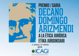 "II Premio ""Decano Domingo Arizmendi a la Ética Jurídica"""